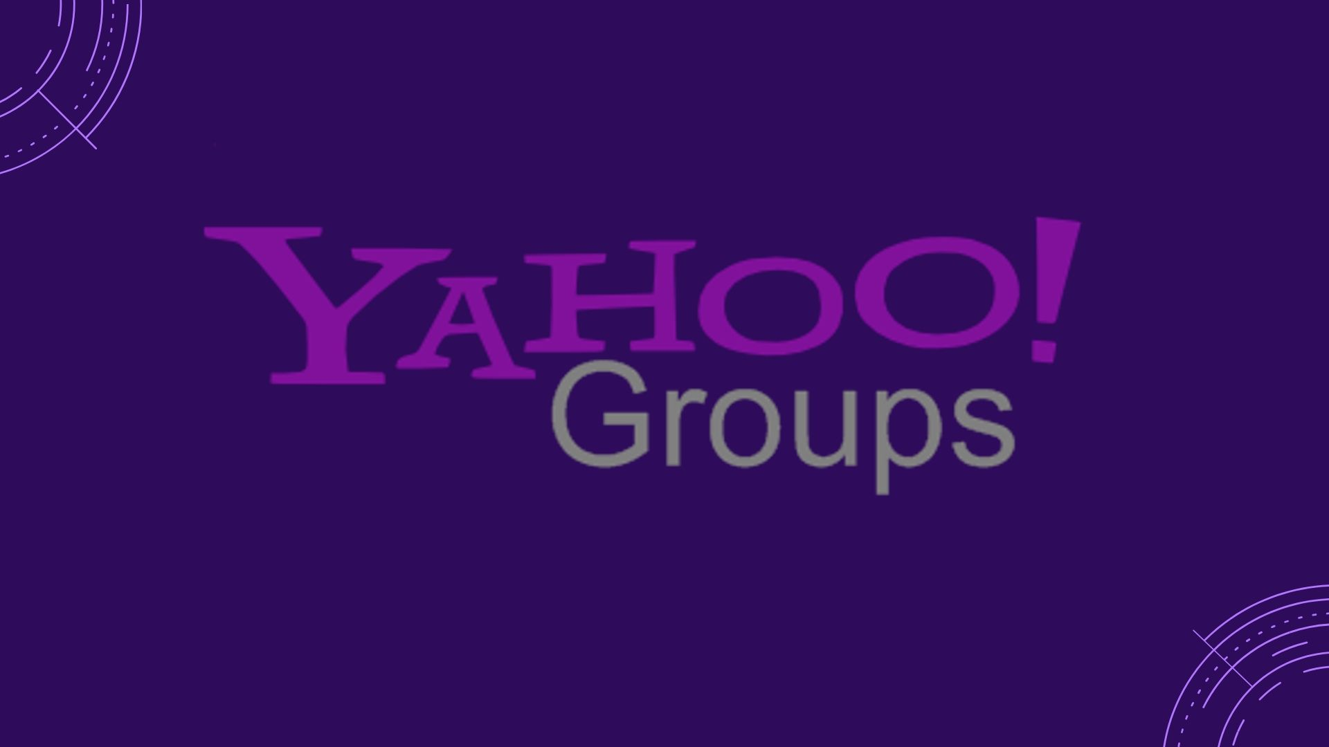 Yahoo is Deleting all the Content on Yahoo Groups on 14